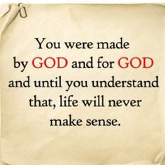 MAde for God